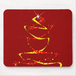 Árbol de cinta rojo y amarillo alfombrilla de ratón