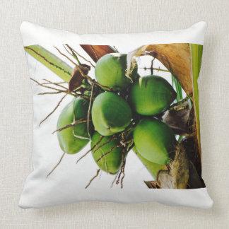 Árbol de coco - isla caribeña - almohada de tiro