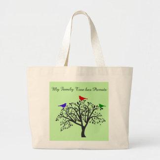 Árbol de familia con la bolsa de asas del jumbo de
