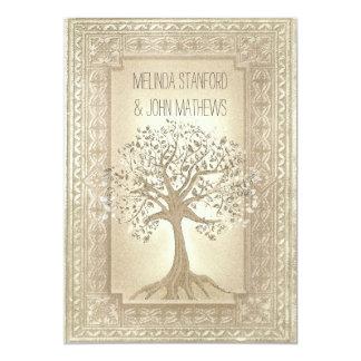 Árbol de familia de la invitación del boda