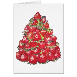 Árbol de fresa tarjeta de felicitación