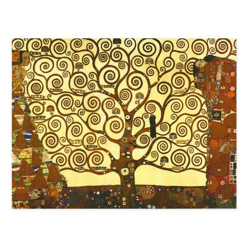 Árbol de Gustavo Klimt de la postal de la vida