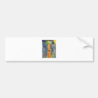 Árbol de Kaitlyn Art1583a1 los regalos de Zazzle d Pegatina Para Coche