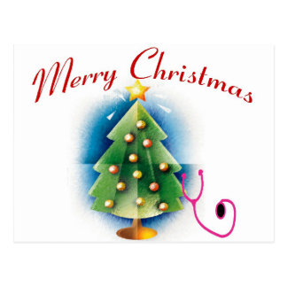ÁRBOL de la ENFERMERA de las Felices Navidad Postal