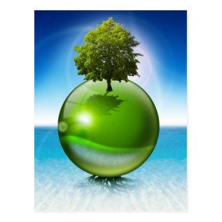 Árbol de la esfera - concepto de la ecología postales