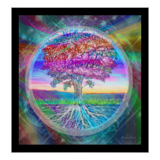 Árbol de la esperanza de la vida póster