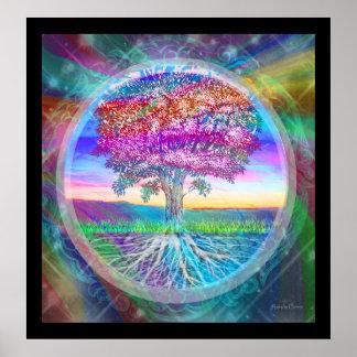 Árbol de la esperanza de la vida posters