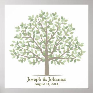 Árbol de la firma del boda - obra clásica póster