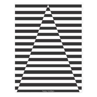 Árbol de la ilusión óptica - buenas fiestas postal