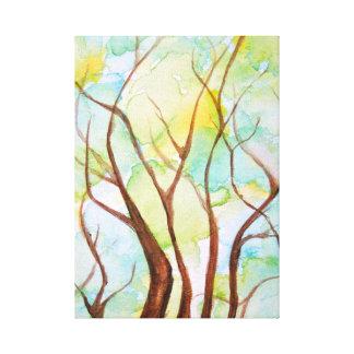 Árbol de la impresión de la lona de la vida