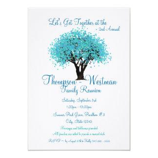 Árbol de la reunión de familia invitación 12,7 x 17,8 cm