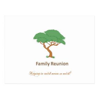 Árbol de la reunión de familia - postal en blanco