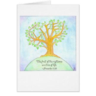 Árbol de la tarjeta de la confirmación de la vida