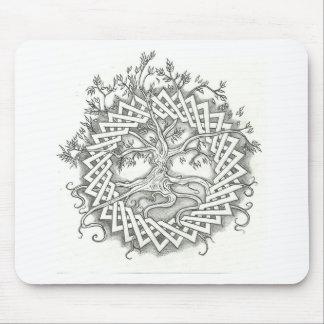 Árbol de la vida en diseño céltico alfombrilla de ratón