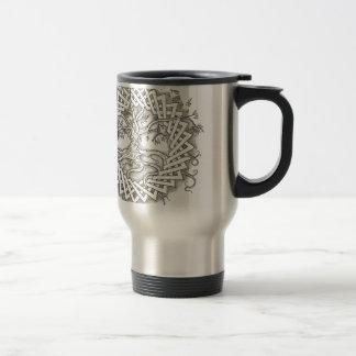 Árbol de la vida en diseño céltico taza de viaje de acero inoxidable