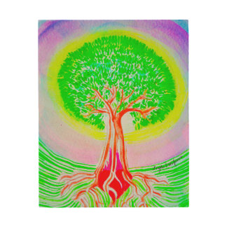 Árbol de la vida impresión en madera