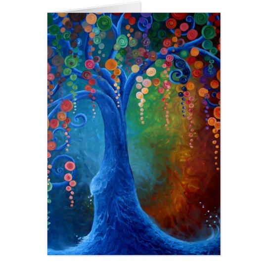 Árbol de la vida, tarjeta de felicitación en