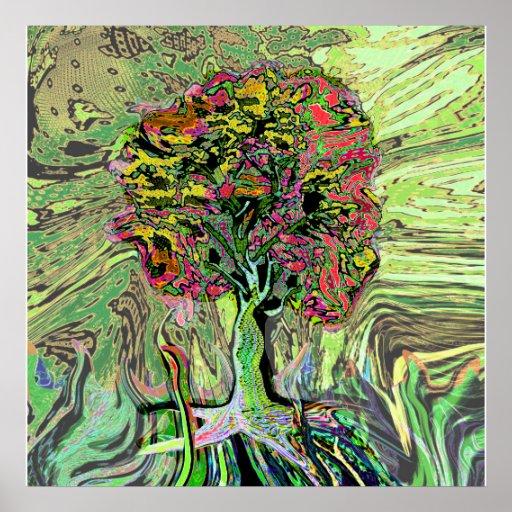 Árbol de la vida vivo pacífico impresiones