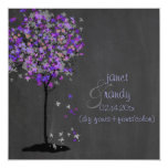 Árbol de la violeta/de arce de PixDezines/pizarra Invitación 13,3 Cm X 13,3cm