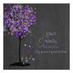 Árbol de la violeta/de arce de PixDezines/pizarra Invitacion Personal