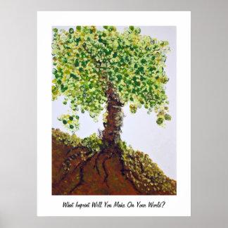 Árbol de las huellas dactilares póster