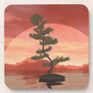 Árbol de los bonsais del pino escocés - 3D rinden Portavasos