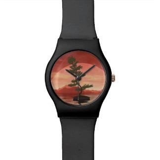 Árbol de los bonsais del pino escocés - 3D rinden Reloj De Pulsera