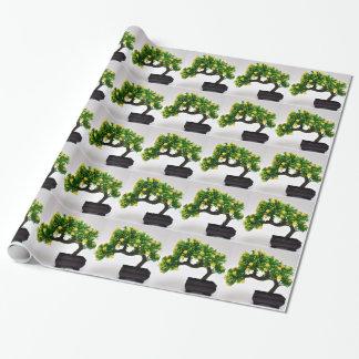 Árbol de los bonsais papel de regalo