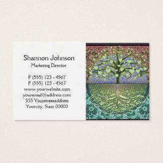 Árbol de los corazones y del amor de la vida tarjeta de negocios