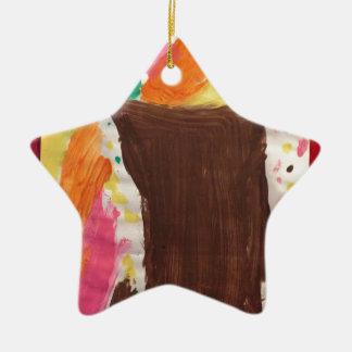 Árbol de los desbordamientos de la vida adorno de cerámica en forma de estrella