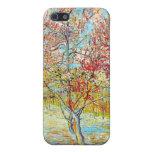 Árbol de melocotón en la floración en Arles, Van G iPhone 5 Cárcasas