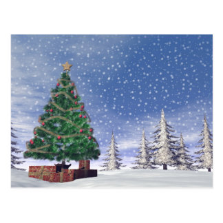 Árbol de navidad - 3D rinden Postal