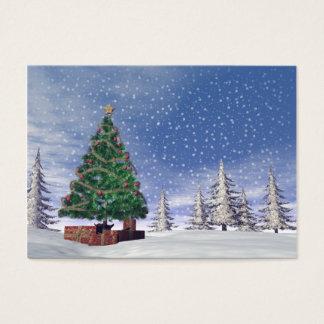Árbol de navidad - 3D rinden Tarjeta De Negocios