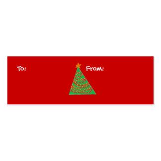 Árbol de navidad, a: , De: Tarjetas De Visita Mini