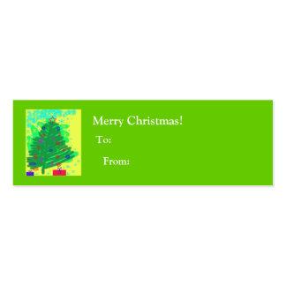 Árbol de navidad - a y de tarjetas de visita mini