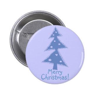 árbol de navidad adornado azul pins