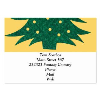 árbol de navidad, amarillo tarjeta de visita