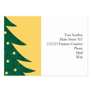 árbol de navidad, amarillo plantilla de tarjeta personal