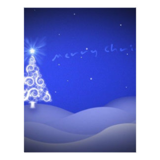 Árbol de navidad azul tarjetas publicitarias