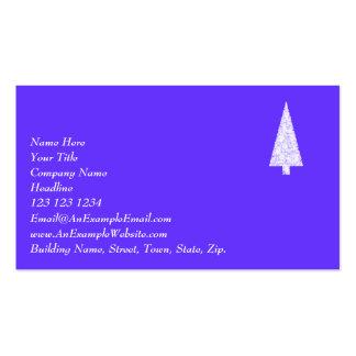 Árbol de navidad blanco. En el azul - púrpura Tarjetas De Visita