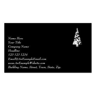 Árbol de navidad blanco. En fondo negro Plantillas De Tarjetas Personales