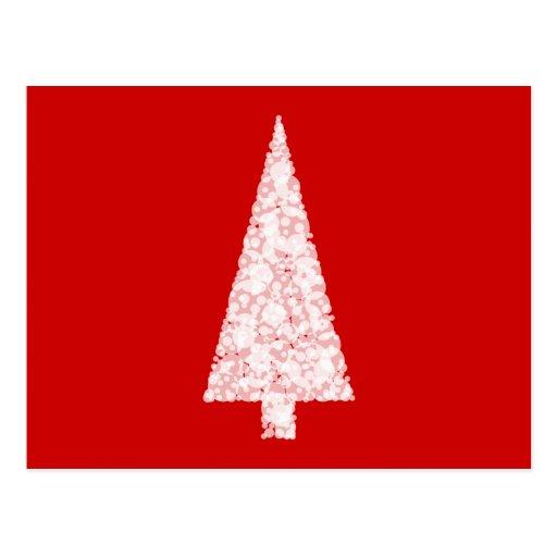 Rbol de navidad blanco en rojo moderno postal zazzle - Arbol navidad moderno ...
