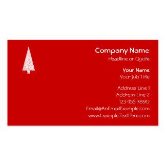 Árbol de navidad blanco En rojo Moderno Tarjeta Personal