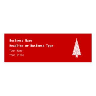 Árbol de navidad blanco. En rojo. Moderno Tarjetas De Negocios