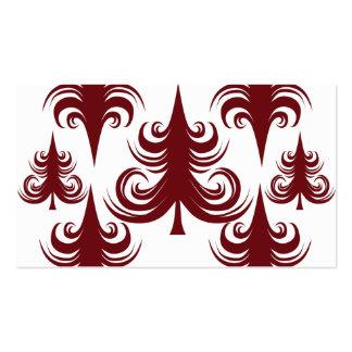 Árbol de navidad blanco rojo del día de fiesta fes tarjetas de visita