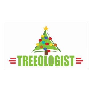 Árbol de navidad chistoso tarjetas de visita