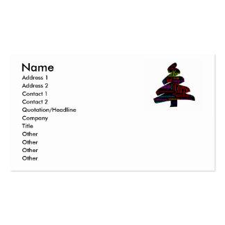 Árbol de navidad con canciones del navidad tarjeta de visita