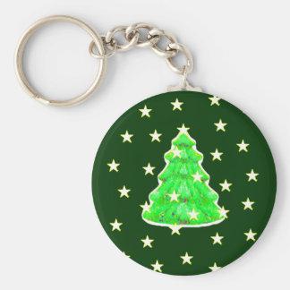 Árbol de navidad con jGibney de las estrellas El Llavero Redondo Tipo Chapa