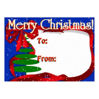 Árbol de navidad con la cinta roja plantilla de tarjeta personal