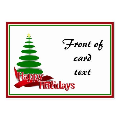 Árbol de navidad con la cinta roja plantilla de tarjeta de visita